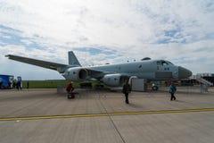 Flygplan för maritim patrull Kawasaki P-1 Styrka Japan för maritimt självförsvar arkivbild