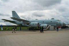 Flygplan för maritim patrull Kawasaki P-1 Styrka Japan för maritimt självförsvar arkivfoto