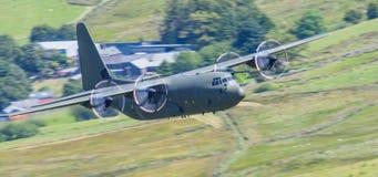 Flygplan för R.A.F. C130 Hercules Fotografering för Bildbyråer