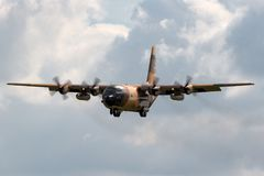 Flygplan för Royal Jordanian flygvapenLockheed C-130H Hercules militärt transport Royaltyfria Bilder