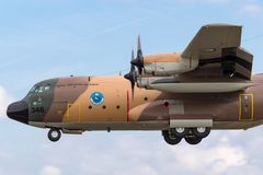 Flygplan för Royal Jordanian flygvapenLockheed C-130H Hercules militärt transport Fotografering för Bildbyråer