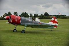Flygplan för skärm för Aerostars YAK 52 Royaltyfri Fotografi