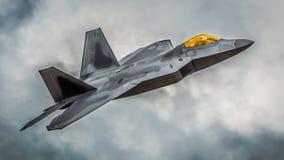 Flygplan för stråle F22 Royaltyfria Bilder