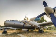 Flygplan för tidig varning Arkivbild