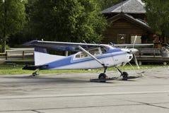 Flygplan i Alaska Arkivfoto