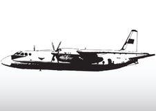 Flygplan i flyg stock illustrationer