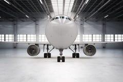 Flygplan i hangar arkivfoton