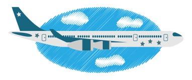 Flygplan i himlen Royaltyfri Bild