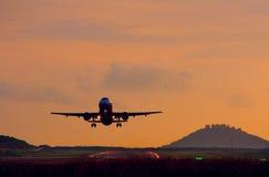 Flygplan i luften Royaltyfria Foton