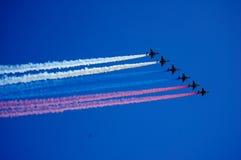 Flygplan i luften Royaltyfri Fotografi