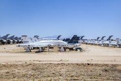 Flygplan i Pima luft och utrymmemuseum Arkivbilder