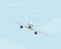 Flygplan i skyen Arkivfoto