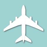Flygplan isolerad vektorillustration Stock Illustrationer