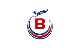Flygplan Logo Initial B Arkivfoton