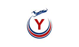 Flygplan Logo Initial Y Royaltyfri Foto