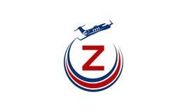 Flygplan Logo Initial Z Royaltyfri Bild
