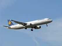flygplan lufthansa Royaltyfri Bild