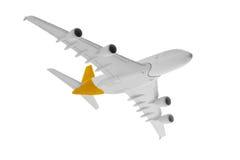 Flygplan med gul färg Arkivbild