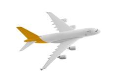 Flygplan med gul färg Arkivfoto