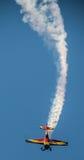 Flygplan på flygshow Arkivbilder