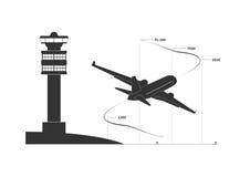 Flygplan på klättringfas Arkivbild