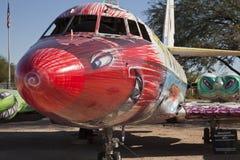 Flygplan på Pima luft och utrymmemuseet Arkivbild