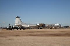 Flygplan på Pima luft och utrymmemuseet, Tucson Arkivbilder