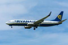 Flygplan Ryanair EI-DAC Boeing 737-800 Royaltyfri Foto