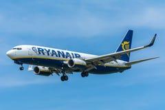 Flygplan Ryanair EI-DAC Boeing 737-800 Royaltyfri Bild