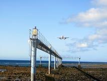 Flygplan som in kommer att landa Arkivbilder