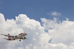 Flygplan - TAM-flygbolag arkivfoto
