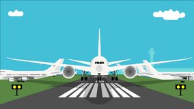 Flygplan tar av animering arkivfilmer