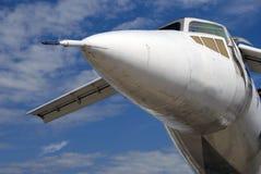 Flygplan Tu-144 på den internationella rymdsalongen MAKS-2017 för MAKS Royaltyfria Bilder