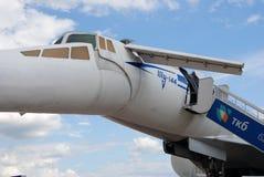 Flygplan Tu-144 på den internationella rymdsalongen MAKS-2017 för MAKS Royaltyfri Bild
