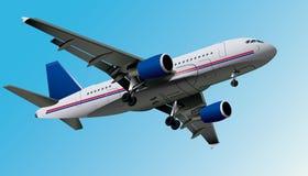 Flygplan vektor eps10 Arkivbild