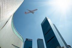 flygplanaffärsmitt arkivbilder