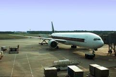 Flygplananslutning arkivfoto
