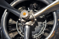 flygplanantikvitetmotor Royaltyfri Fotografi