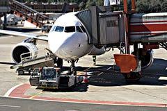 flygplanavsänding Arkivfoto