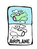 flygplanbokfärgläggning royaltyfri illustrationer