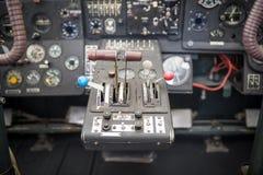 Flygplancockpit Kontrollbord av en aircraf Royaltyfri Bild