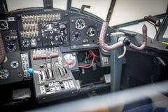 Flygplancockpit Kontrollbord av en aircraf Royaltyfri Fotografi