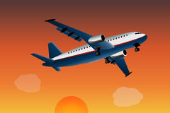flygplancommercial Arkivfoto