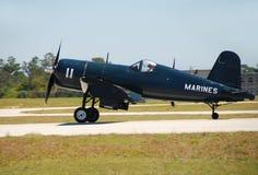 flygplancorsairtappning Royaltyfri Fotografi