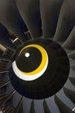 Flygplandetalj som visas på den internationella rymdsalongen för MAKS Arkivbild