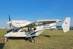 Flygplanet Accord-201 Arkivfoto
