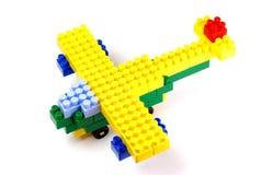 flygplanet blockerar byggnadstoyen Arkivbilder