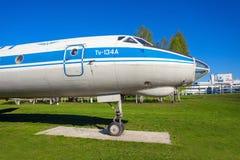 Flygplanet för Tupolev Tu-134 Royaltyfri Fotografi