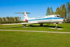 Flygplanet för Tupolev Tu-134 Arkivfoton