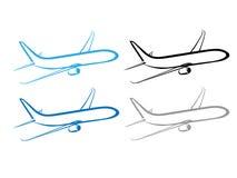 Flygplanet nivån, flygplansymbol, stiliserade flygplanet Arkivfoton